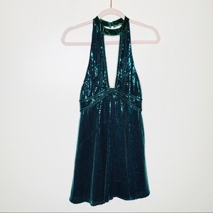 Free People Film Noir Sequined Mini Dress